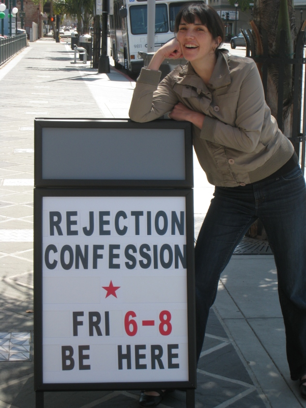 Susan & the ICA Sandwich Board
