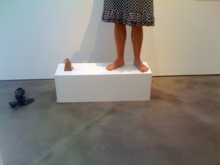 Cathy Kimball sans shoes - she means business!